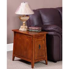 Storage End Table Leick 1032rs Favorite Finds Mission Cabinet End Hayneedle