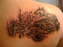 hunting tattoo for men back shoulder creativefan