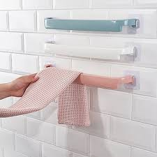 wall mounted kitchen storage cupboards towel holder rack wall mounted kitchen accessories 44 5 3 5cm towel hanger bathroom storage cupboard door bath hanger