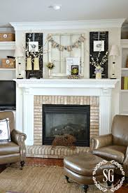 a chippy blooming nest inspired spring mantel stonegable