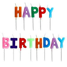 wrisky happy birthday letter candles toothpick cake