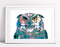 printable owl art owl print geometric owl poster owl home decor colorful