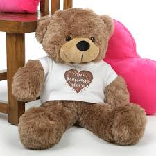 engraved teddy bears mocha 30in cuddles personalized teddy with heart