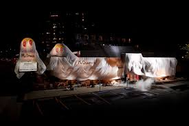halloween city corporate burger king dressed up as the ghost of mcdonald u0027s in this scary