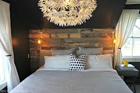 Accent Walls For Bedrooms Master Bedroom Reclaimed Wood Accent Wall View From The