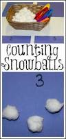 preschool winter math counting snowballs math activities