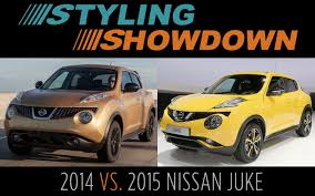 nissan juke exterior pack 2014 v 2015 nissan juke styling showdown
