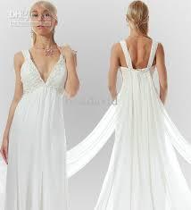 Grecian Wedding Dresses New Sheath Beach Grecian Wedding Dress 2013 Chiffon Deep V Neck