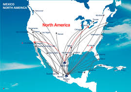 Boston Map Usa am dl to add 5 new us mx routes in fall 2017 airliners net