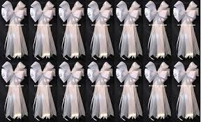 pew decorations for weddings 14 14 x36 white satin wedding pew bows church decorations