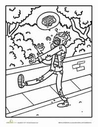zombie coloring pages halloween fall projects