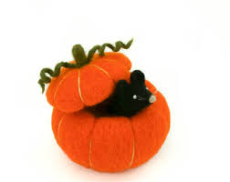 Where To Buy Fall Decorations - set of five felted mini pumpkins primitive fall decor
