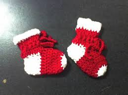 baby bootie ornament deb s crafts christmas baby booties free crochet pattern