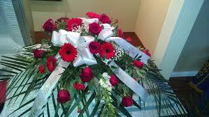 casket sprays gerbera rays of casket spray branch floral
