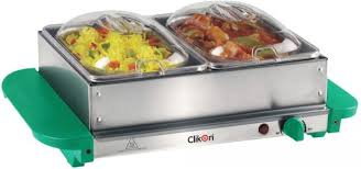 clikon stainless steel 2 in 1 buffet server u0026 warming tray food