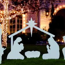 Outdoor Nativity Lighted - 23 best nativity scenes images on pinterest christmas ideas
