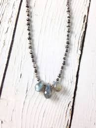 handmade silver necklace images Handmade silver necklace with 3 labradorite brios mixed oxidized jpg