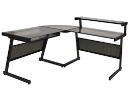 Home Office L Shaped Computer Desk by Z Line Belaire Glass L Shaped Computer Desk Home Design Ideas For