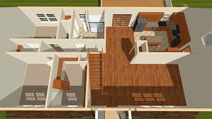 cc001 cape cod modular home model birds eye view rendering