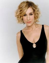 short curly hairstyles with side bangs for long faces and blonde