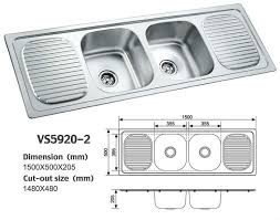 Great Double Bowl Stainless Steel Sink With Drainboard Stainless - Kitchen sinks with drainboards
