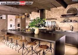 wandgestaltung küche ideen rustikale wandgestaltung küche einrichten ideen metallstühle