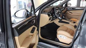 porsche black interior 2017 macan s volcano grey with black beige interior p4855 youtube