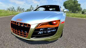 Audi R8 Green - audi r8 chrome for beamng drive