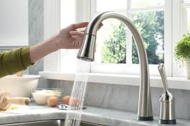 delta touch2o kitchen faucet delta one touch faucets michaelresin site
