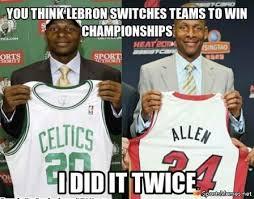 Celtics Memes - ray allen logic meme