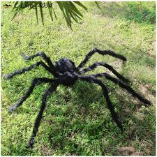 halloween spiders prop house bar decoration thrilling plush spider