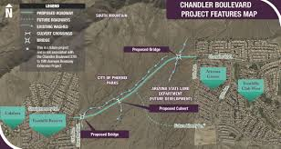 Map Of Chandler Az Street Transportation Chandler Boulevard 27th Avenue To 19th Avenue