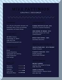 blue stripes graphic design resume templates by canva