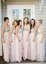silver bridesmaid dresses wedding trends sequin bridesmaid dresses the magazine