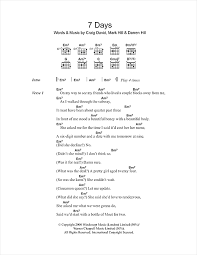 7 days sheet by craig david lyrics chords 100891