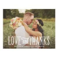 wedding thank you postcards wedding thank you cards zazzle