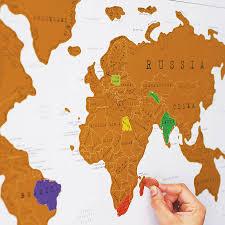 World Map Wall Poster by Scratch Off U0027push Pin U0027 World Map Bundle Wall Maps You Ve And