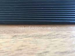 safety soft black rubber flooring sheet fine ribbed for commercial
