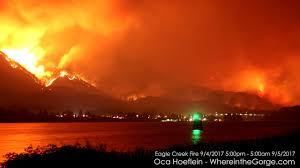 Fire Map Oregon by Eagle Creek Fire 12 Hour Timelapse Youtube