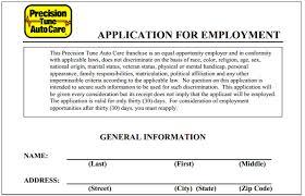 Auto Mechanic Job Description Resume precision tune auto care job application printable job