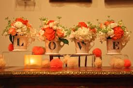 Coral Wedding Centerpiece Ideas by Bold Travel Inspired Baltimore Wedding Reception Meghan Phil