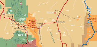 National Map Maps Capitol Reef Country