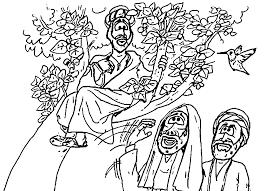 interesting zacchaeus jesus coloring page wecoloringpage