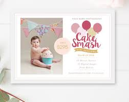 cake smash mini session template cake smash marketing board