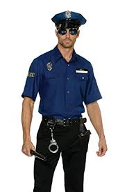 cop costume dreamgirl men s you re busted cop costume clothing