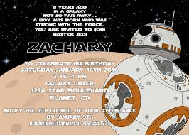 star wars personalized birthday invitations star wars personalized