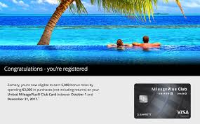 register to earn 5 000 united miles on select card purchases