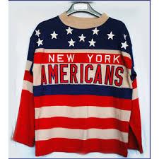 new york americans custom vintage knit sweater jersey l clas