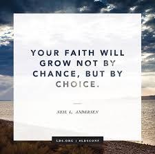 Faith Meme - faith will grow by choice