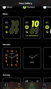 how to get the hermès and nike watch faces on apple watch